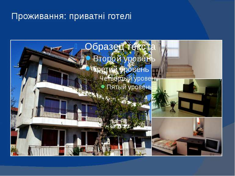 Проживання: приватні готелі