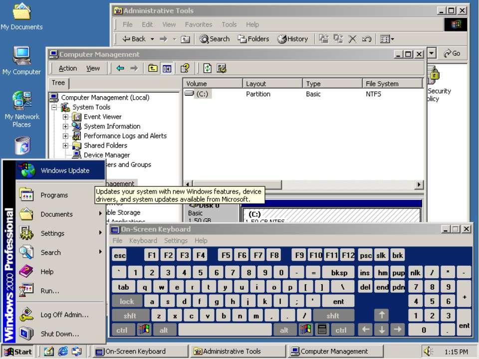 Win2k бывает серверная и professional с 2003 не путаешь? мля