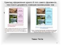 Приклад оформлення одного й того самого фрагмента текстового документа з вико...