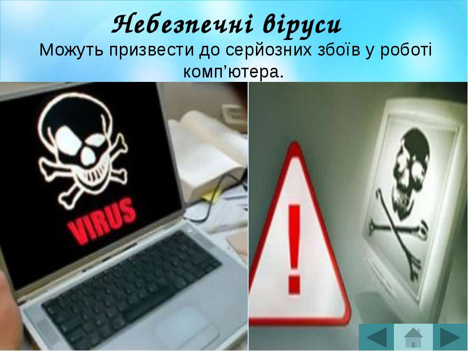 Резидентний вірус У разі інфікування комп'ютер залишає в оперативній пам'яті ...