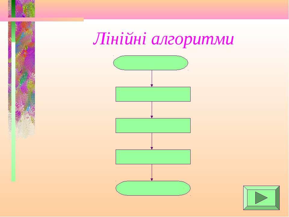 Лінійні алгоритми