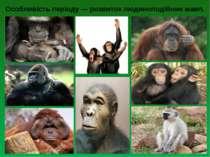 Особливість періоду — розвиток людиноподібних мавп.