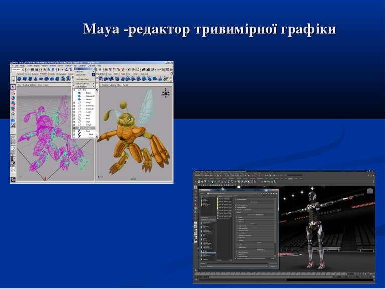 Maya -редактор тривимірної графіки