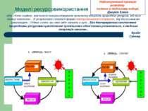 Моделі ресурсовикористання «Ми, Homo sapiens, навчилися використовувати велич...