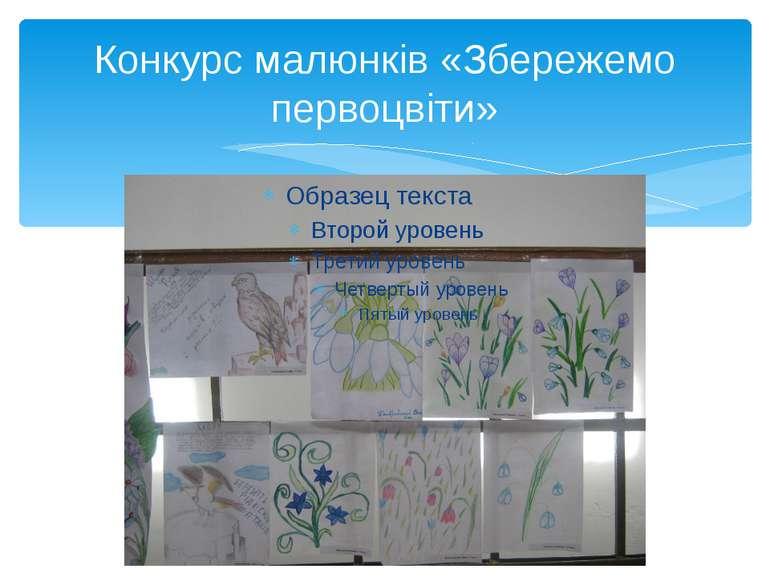 Конкурс малюнків «Збережемо первоцвіти»