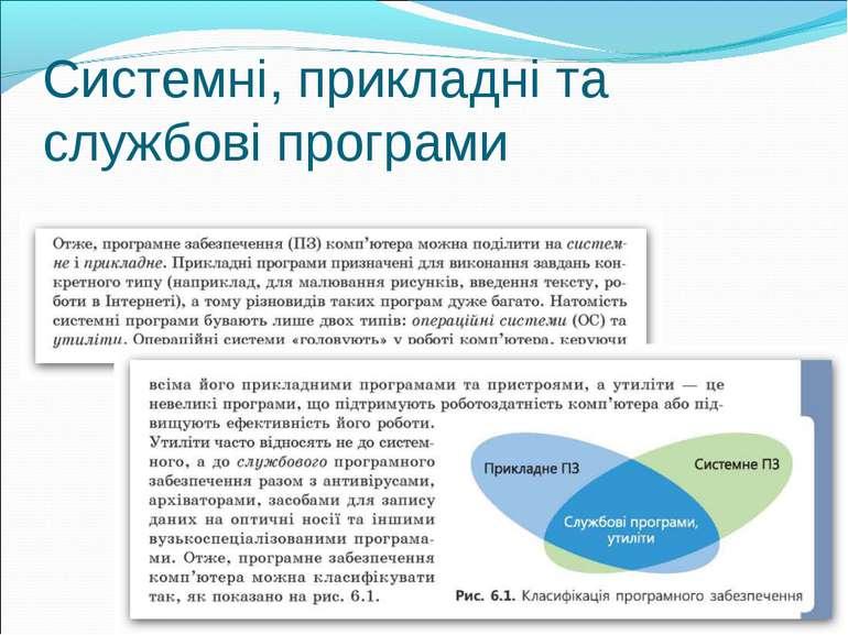 Системні, прикладні та службові програми
