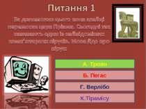 А. Троян Б. Пегас Г. Верлібо К.Тірамісу А. Троян