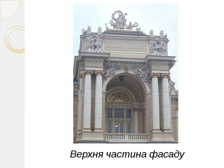 Верхня частина фасаду