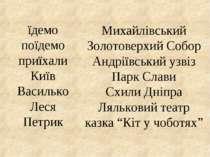 їдемо поїдемо приїхали Київ Василько Леся Петрик Михайлівський Золотоверхий С...
