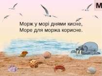 Морж у морі днями кисне, Море для моржа корисне. М