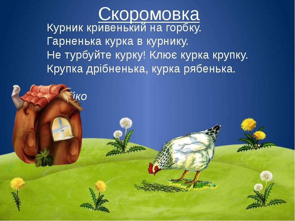 Скоромовка Курник кривенький на горбку. Гарненька курка в курнику. Не турбуйт...