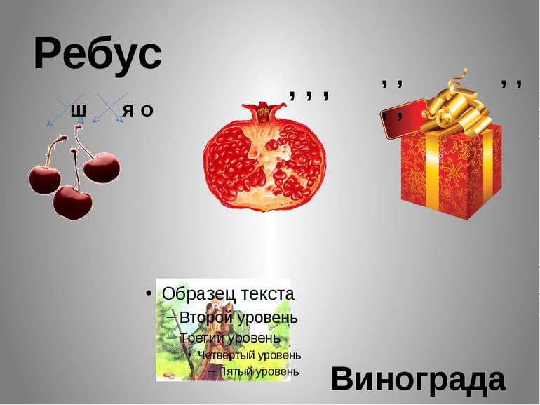Ребус ш я о , , , , , , , , , Виноградар