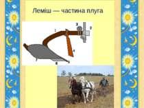 Леміш — частина плуга Гайдай Галини Володимирівни