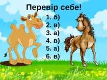 Перевір себе! 1. б) 2. в) 3. а) 4. в) 5. а) 6. в)