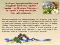 Шевченко був справжнім народним співцем, бо з дитинства знав і любив простий ...