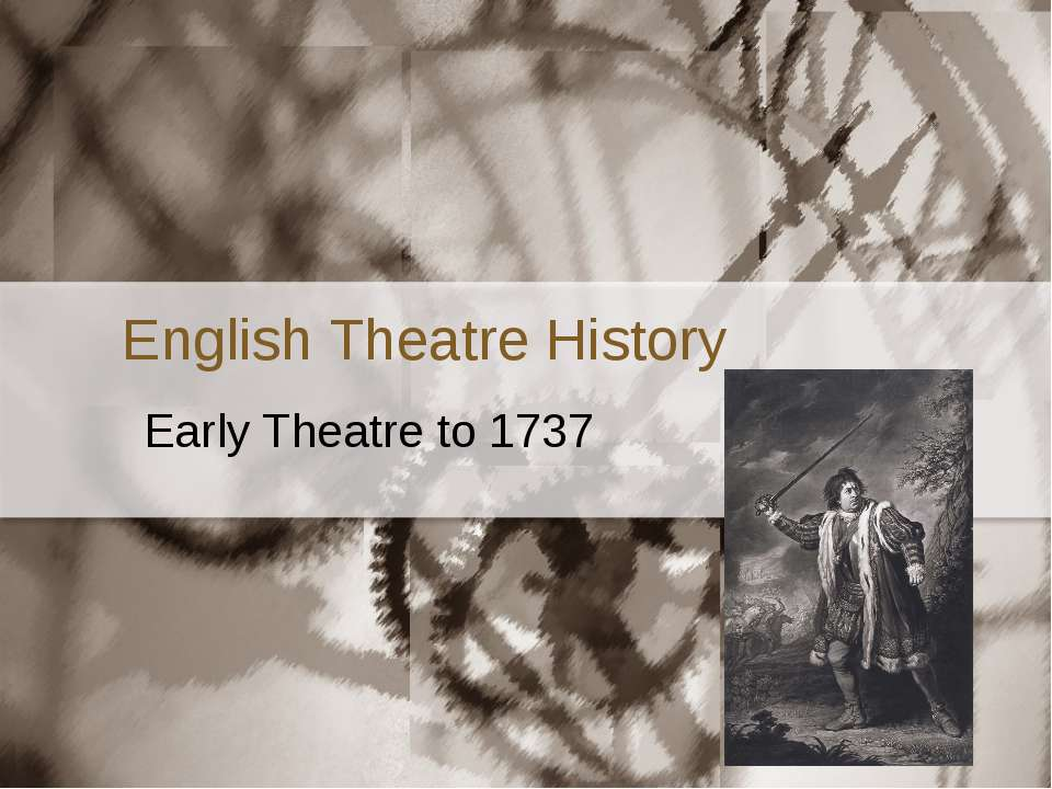 an introduction to the history of the theatre Introduction to theatre is a course primarily designed for students who are interested in theatre and performance but do not necessarily have prior in reading and analyzing plays and productions we will explore how the theatre has come to both shape and reflect moments in the history of western.
