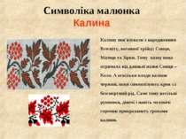 Символіка малюнка Калина Калину пов'язували з народженням Всесвіту, вогняної ...