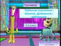Автор: Романюк Тетяна Анатоліївна Тренажер 2-3 класи