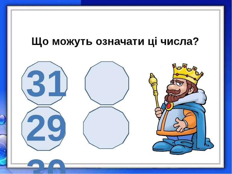 Що можуть означати ці числа? 31 29 30 28