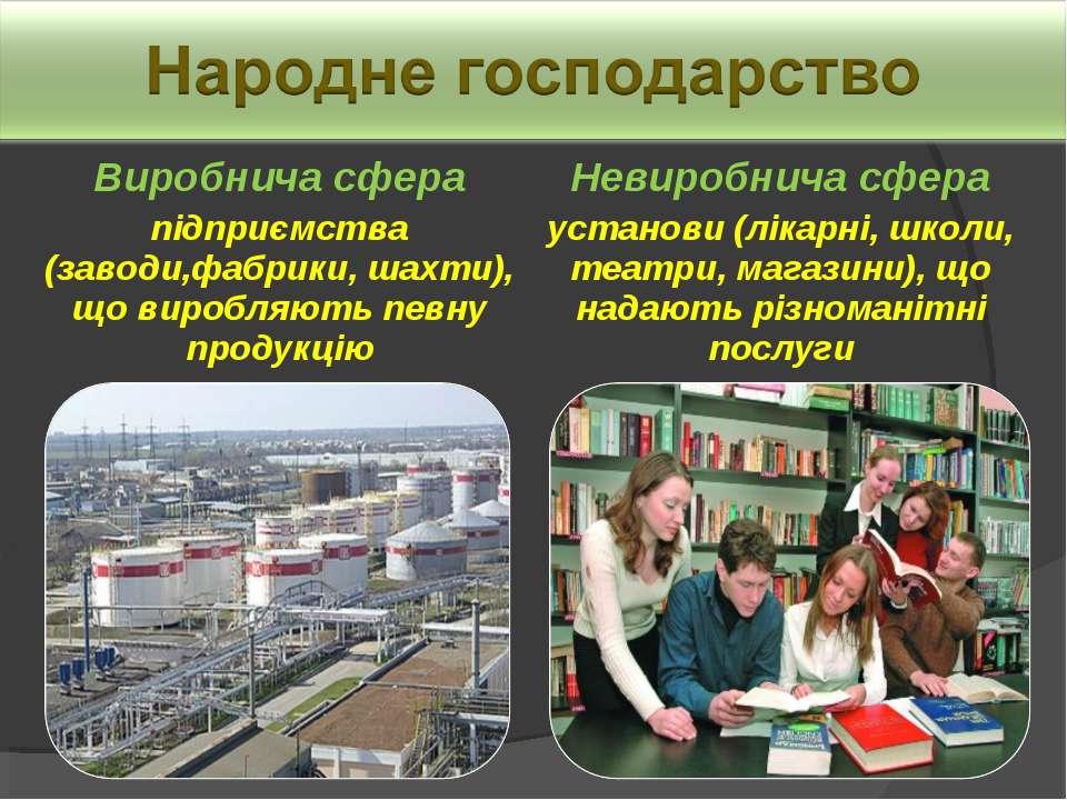 Виробнича сфера підприємства (заводи,фабрики, шахти), що виробляють певну про...