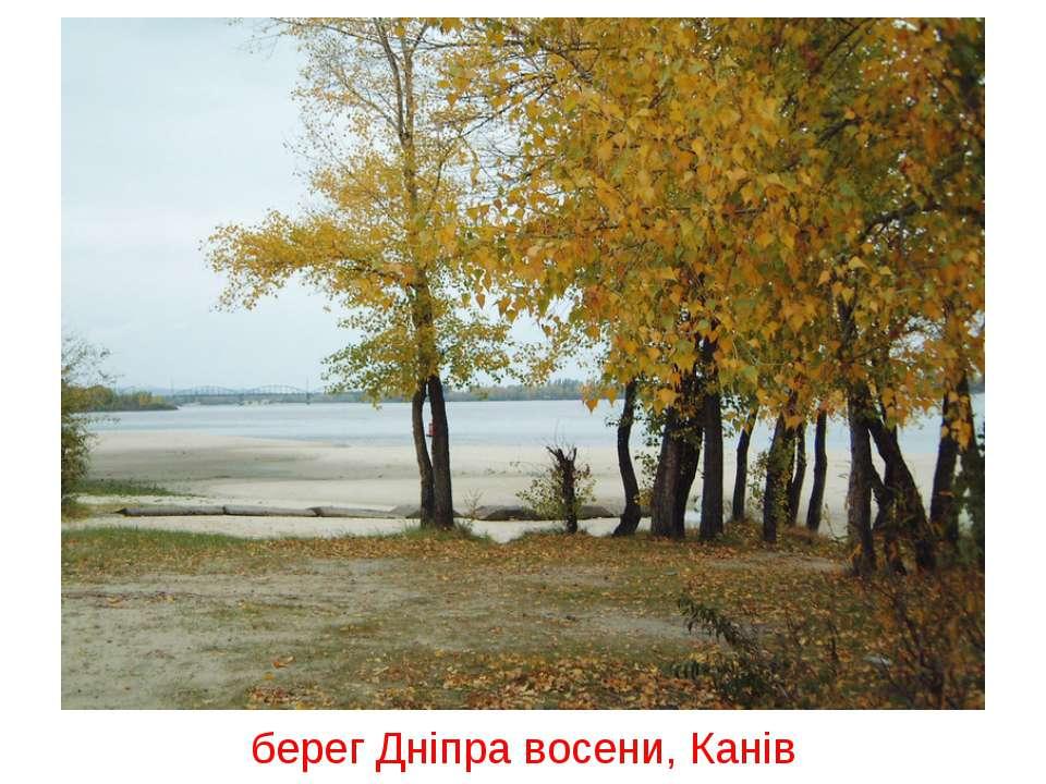 берег Дніпра восени, Канів