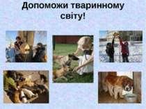 Допоможи тваринному світу!
