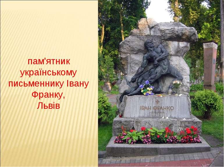 пам'ятник українському письменнику Івану Франку, Львів