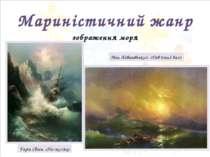 Мариністичний жанр зображення моря Гарін Євген. «На скелях» Іван Айвазовський...
