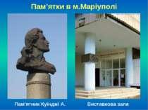 Пам'ятки в м.Маріуполі Пам'ятник Куїнджі А. Виставкова зала