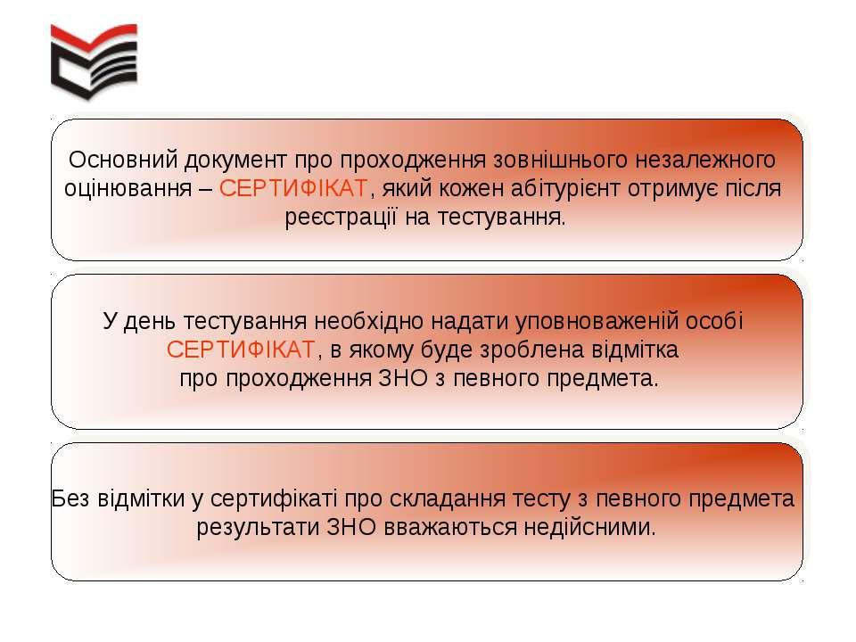 Основний документ про проходження зовнішнього незалежного оцінювання – СЕРТИФ...