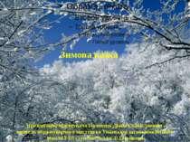 Зимова казка Презентацію підготувала Половець Діана Станіславівна вчитель обр...