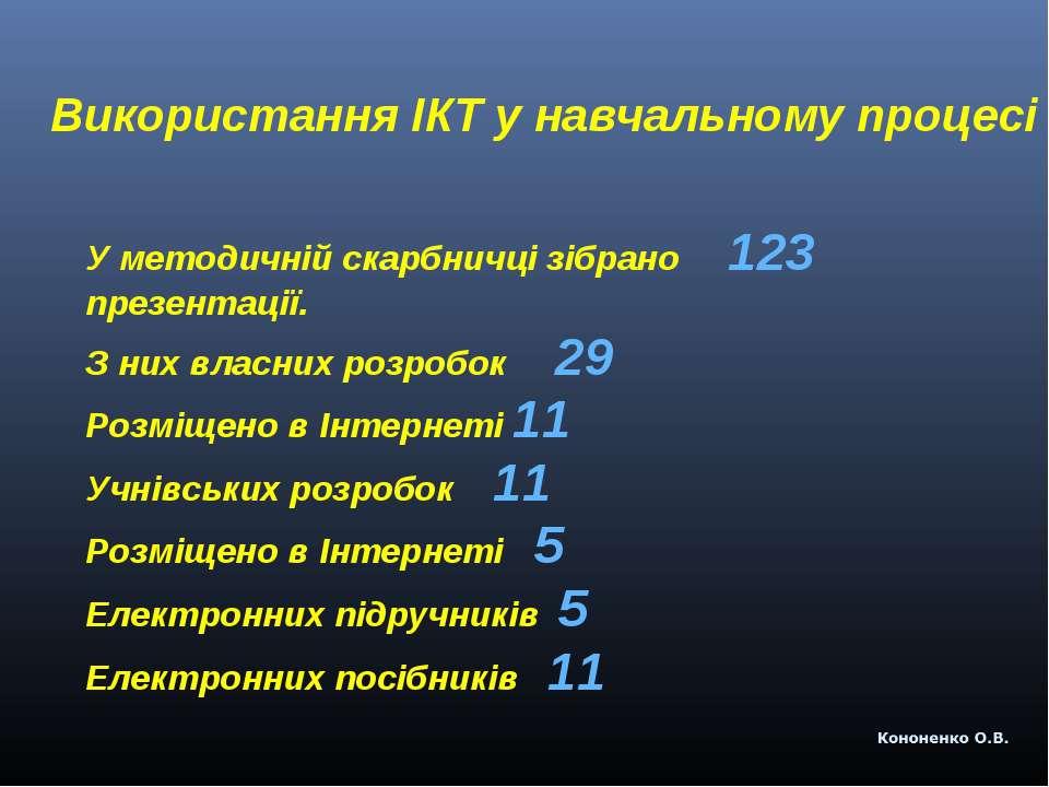 Використання ІКТ у навчальному процесі У методичній скарбничці зібрано 123 пр...