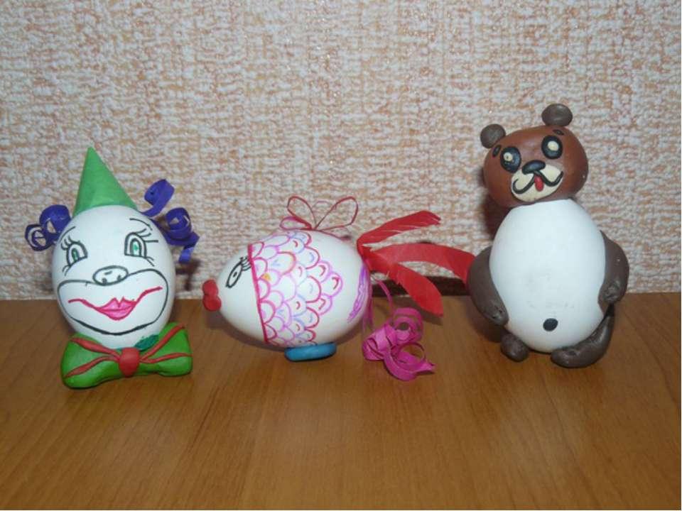 Ёлочные игрушки из яиц своими руками