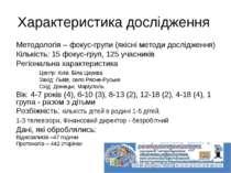 Методологія – фокус-групи (якісні методи дослідження) Кількість: 15 фокус-гру...