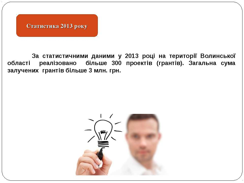 Статистика 2013 року За статистичними даними у 2013 році на території Волинсь...