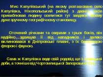 Мис Капулівський (на якому розташоване село Капулівка, Нікопольський район) з...