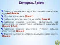 Старости академічних груп, наставники академічних груп (всі блоки) Методисти ...