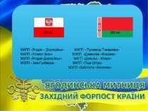 МАПП «Ягодин – Дорохуйськ» МАПП « Пулемець-Томашовка» МАПП «Устилуг-Зосін» МА...