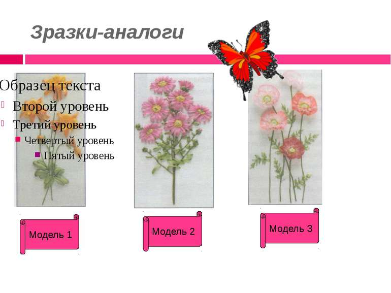 Зразки-аналоги Модель 1 Модель 2 Модель 3