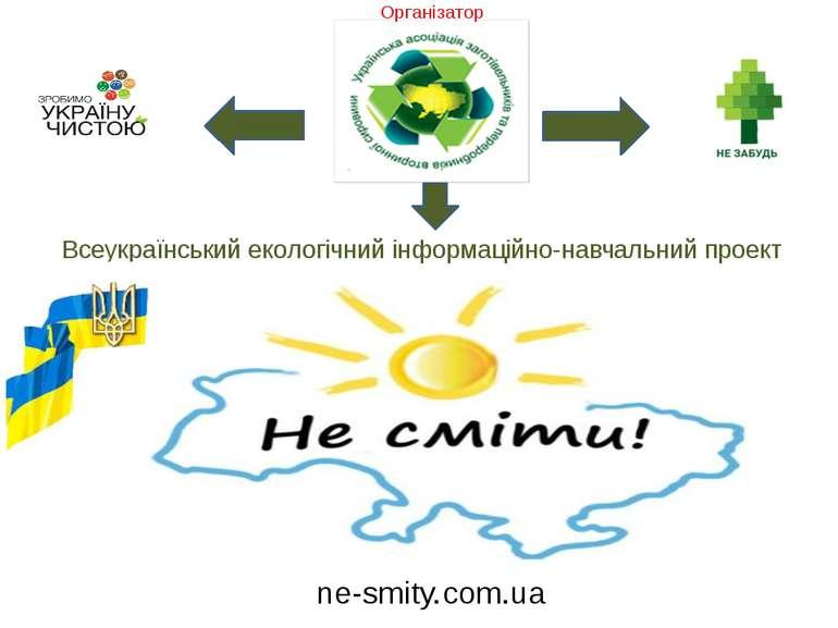 Всеукраїнський екологічний інформаційно-навчальний проект ne-smity.com.ua Орг...
