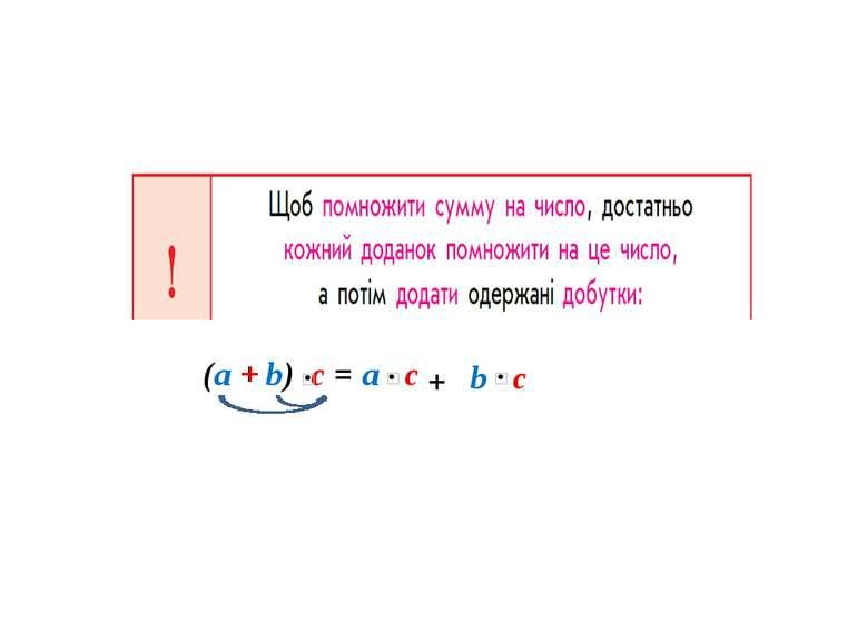 (a + b) c = a c b c + +