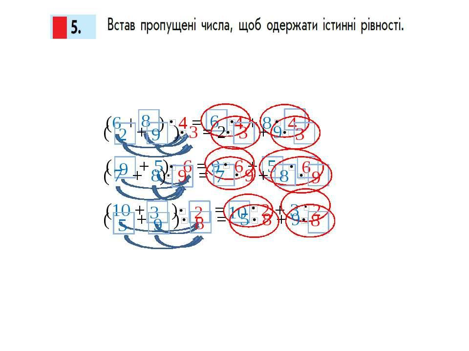 6 (6 + ) 4 = 4 + 8 ( + 5) 6 = 9 6 + (10 + ) = 2 + 3 2 9 4 8 5 2 6 3 10 ( + ) ...