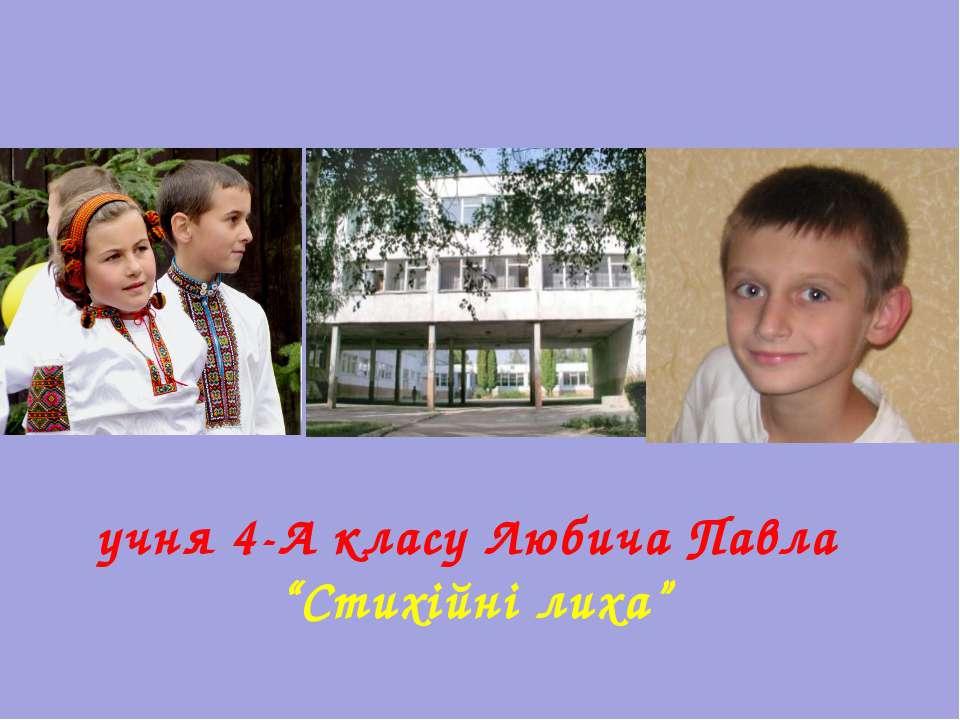 """учня 4-А класу Любича Павла """"Стихійні лиха"""""""