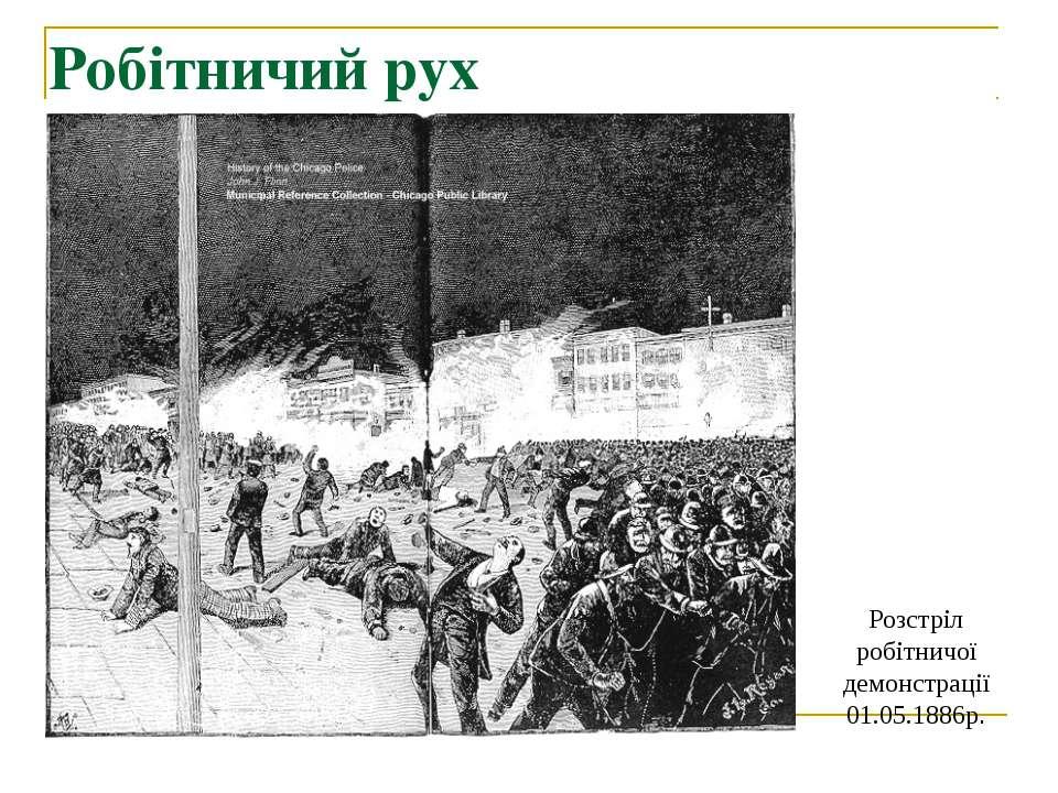 Розстріл робітничої демонстрації 01.05.1886р. Робітничий рух