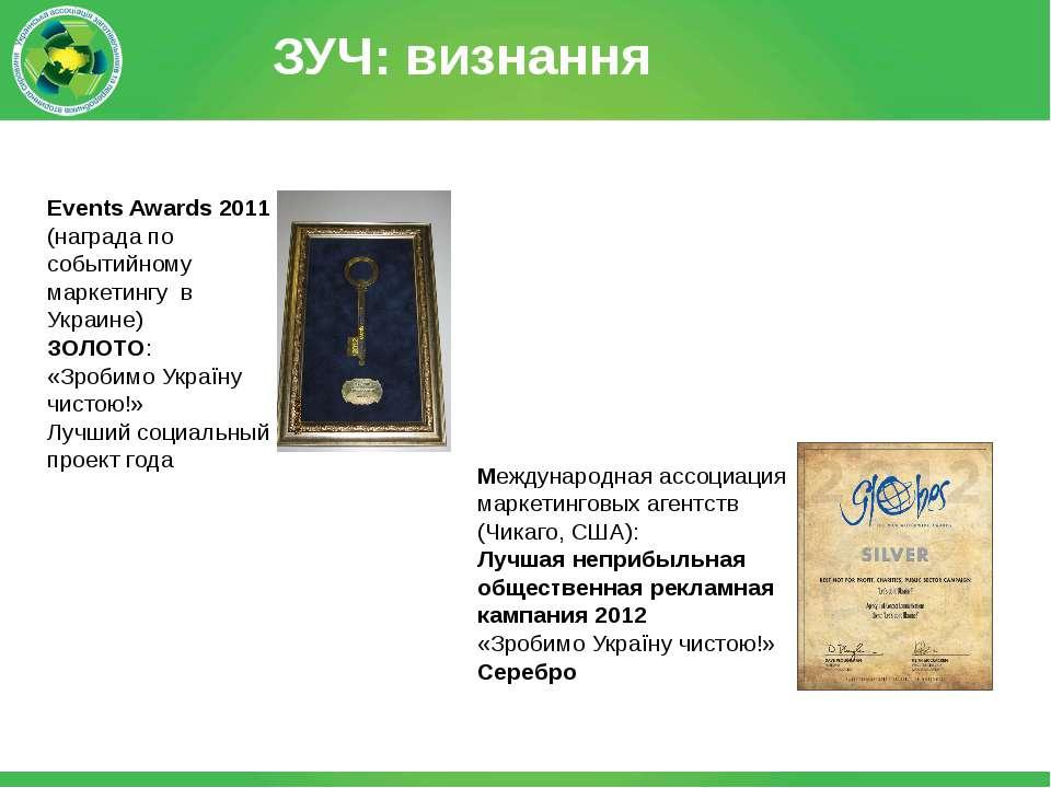 Events Awards 2011 (награда по событийному маркетингу в Украине) ЗОЛОТО: «Зро...