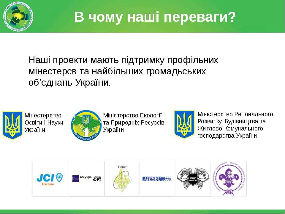 В чому наші переваги? Мінестерство Освіти і Науки України Міністерство Регіон...