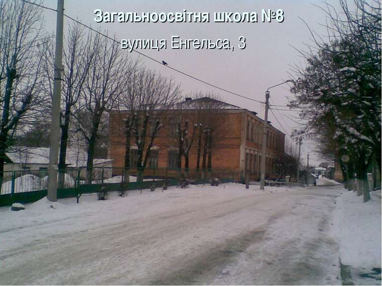 Загальноосвітня школа №8 вулиця Енгельса, 3