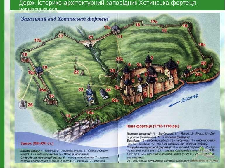 Держ. історико-архітектурний заповідник Хотинська фортеця, Чернівецька обл.