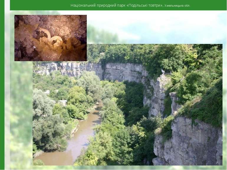 Національний природний парк «Подільські товтри», Хмельницька обл.