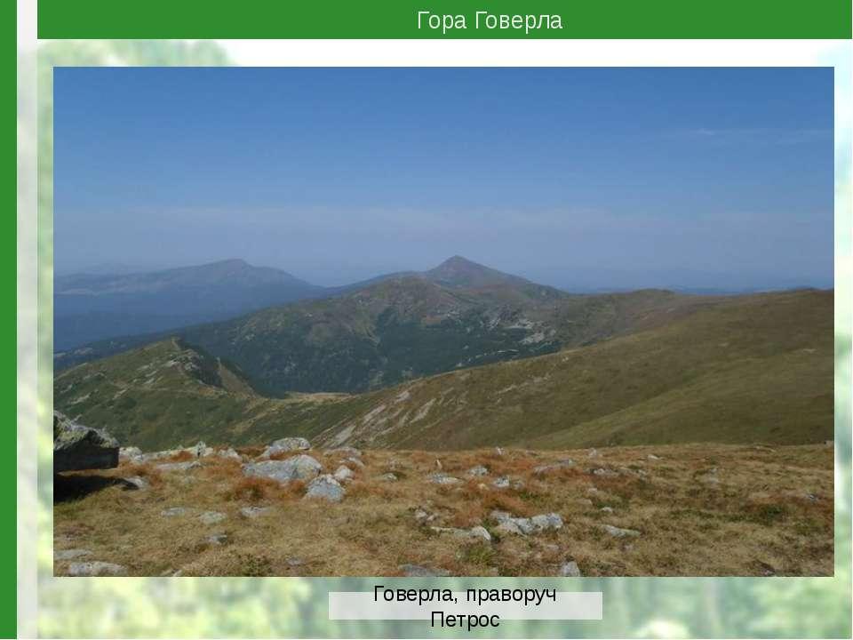 Гора Говерла Говерла, праворуч Петрос